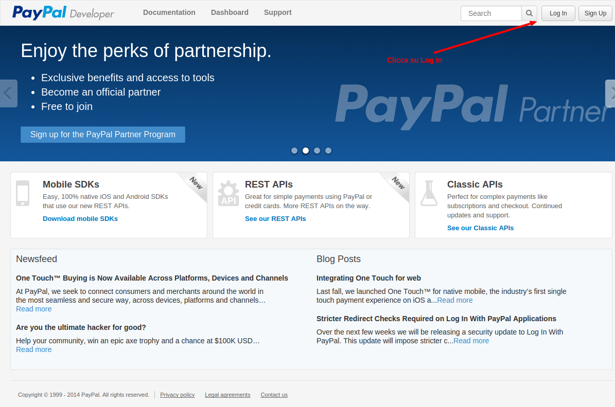 Collegare PayPal